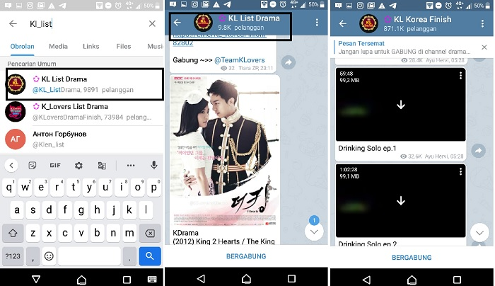 cara download film di Telegram